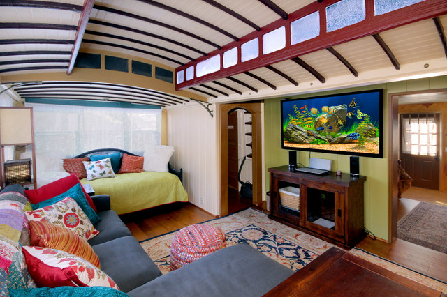 custom painting interior railroad car house eclectic living room san francisco by. Black Bedroom Furniture Sets. Home Design Ideas
