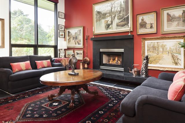 Custom Renovation eclectic-living-room