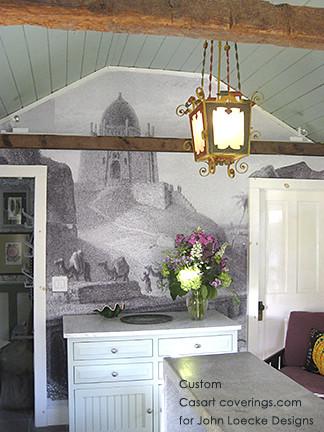 Custom Reusable Wallcovering Mural eclectic-living-room