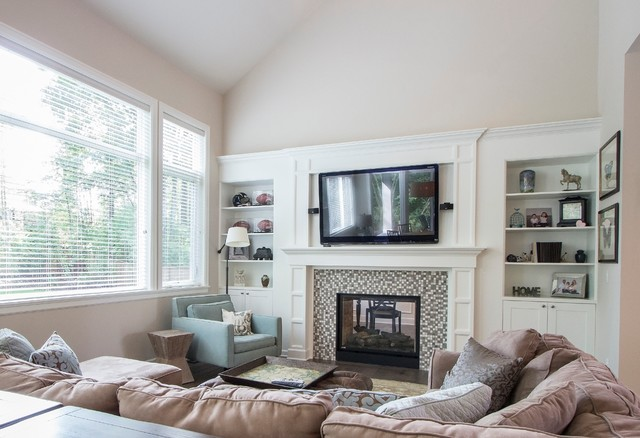 Custom sammamish home transitional living room seattle by calista interiors for Images of transitional living rooms