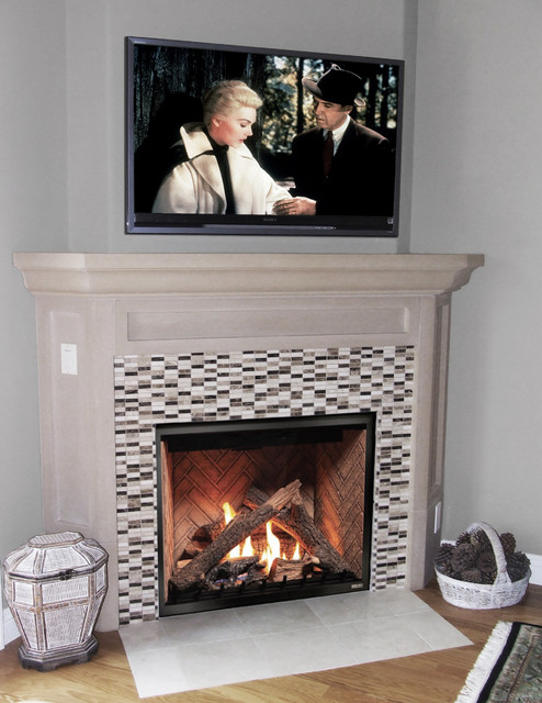 Fireplace Remodel Transitional Living Room San Diego By Fireside Design Center