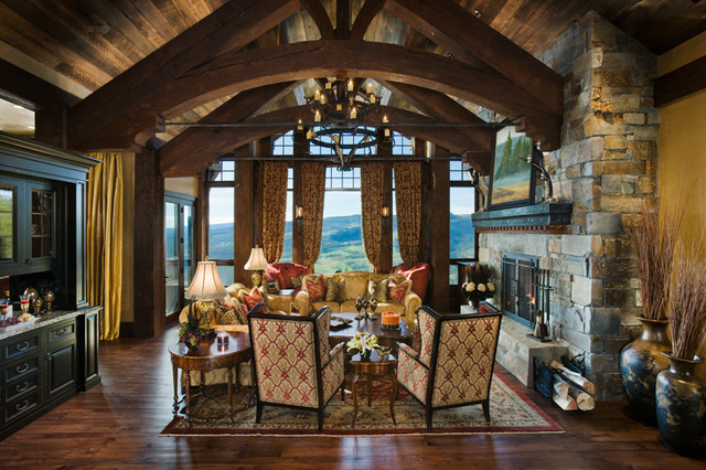 Custom Timber Frame Home Mountain View Lodge Yellowstone
