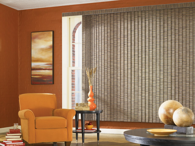 custom vertical blinds traditional living room san