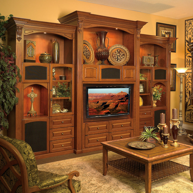 Traditional Style Living Room Furniture: Custom Wall Unit Entertainment Center In Sanford FL