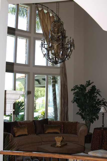 Custom window treatments for Traditional window treatments living room