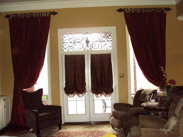 custom window treatments traditional living room new