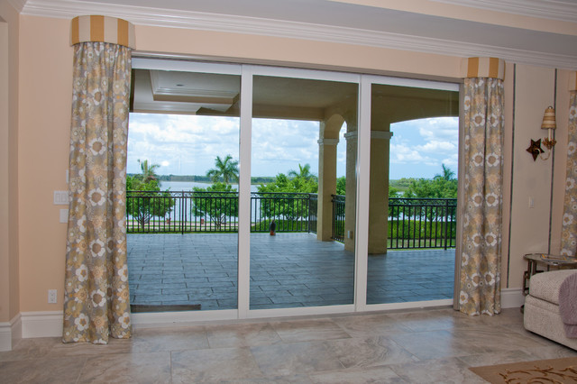 Custom Window Treatments in Miromar Lakes Home transitional