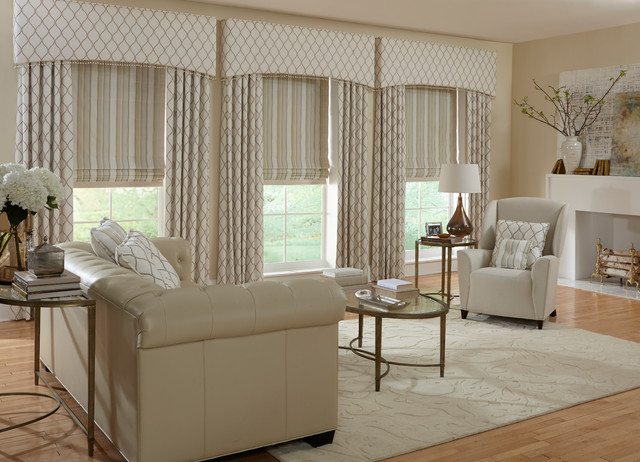 Custom Window Treatments transitional-living-room