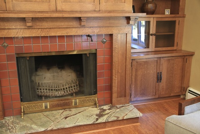 Custom Woodworking Fireplace Mantel With Bookcases And Television Cabinet