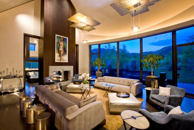 Cutting Edge Contemporary Aspen Estates contemporary-living-room