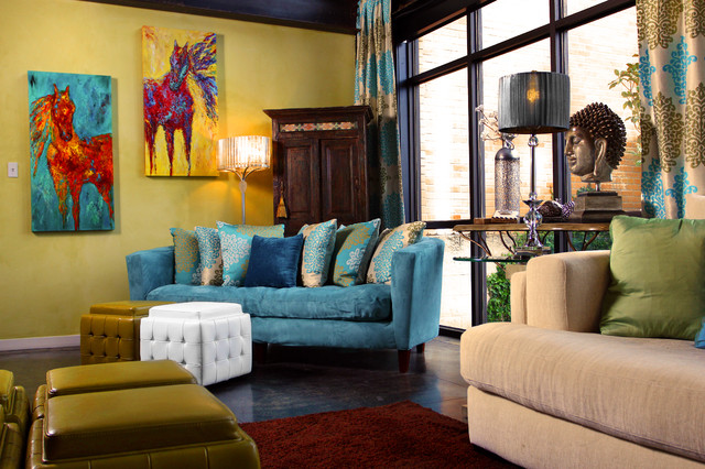 Dallas Loft eclectic-living-room