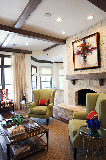 Dallas, Park Cities Project traditional-living-room
