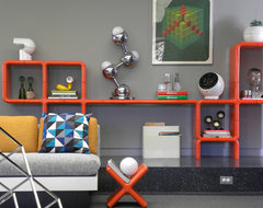 Dallas, TX: Brian and Katherine midcentury-living-room