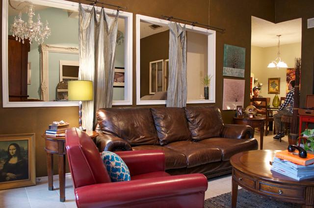 Dallas, TX: Felix & Joseph traditional-living-room