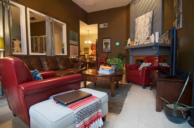 Dallas, TX: Felix & Joseph eclectic-living-room