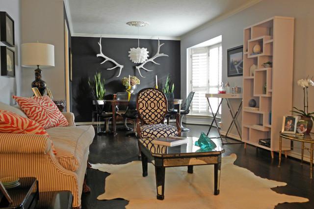 Dallas, TX: Lyndsey & Steve eclectic-living-room