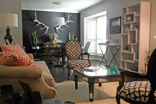 what is the name of the dark grey paint color : eclectic living room from www.houzz.com size 500 x 334 jpeg 66kB