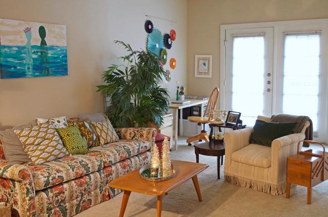 Dallas, TX: Martha Harms eclectic-living-room