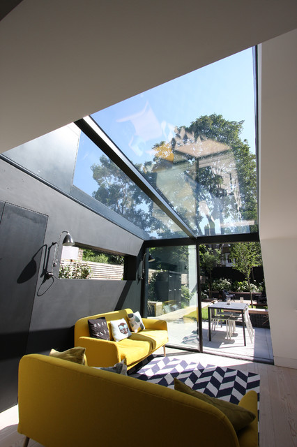 Dalston House  Contemporary  Family Room  london  by IQ Glass UK