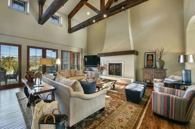 Danville CA Mediterranean Full Service Interior Design Firm Living Room