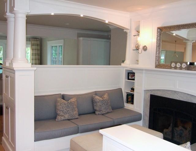 Darien LEED Platinum traditional-living-room