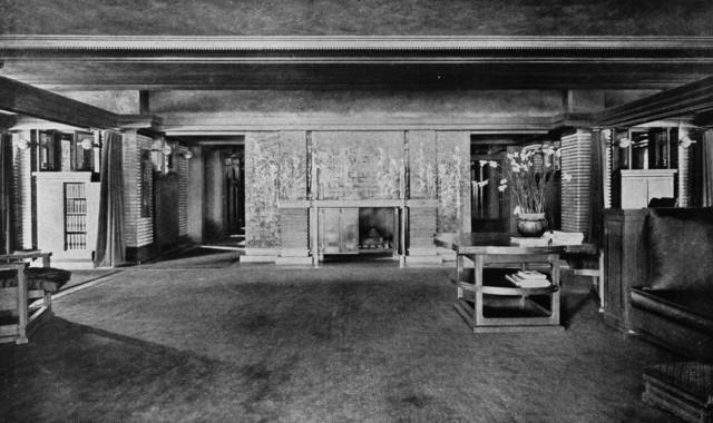 Darwin D. Martin House modern-living-room
