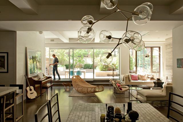 David Howell contemporary-living-room