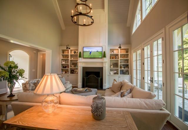 Davidson, NC New Home contemporary-living-room