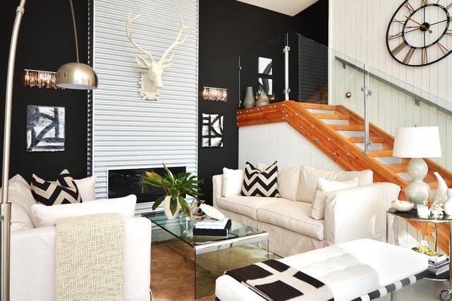 Dawna Jones Design contemporary-living-room