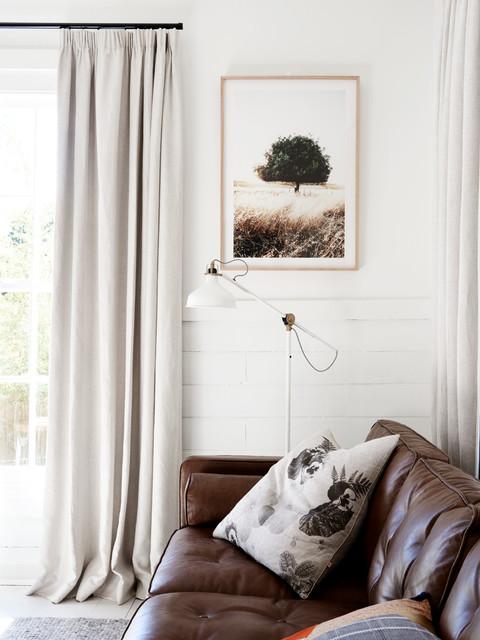 Inspiration for a scandinavian living room remodel in Melbourne