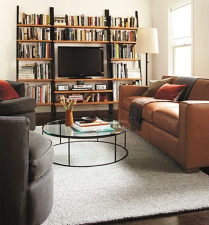 Dean Leather Sofa Room by R&B modern-living-room
