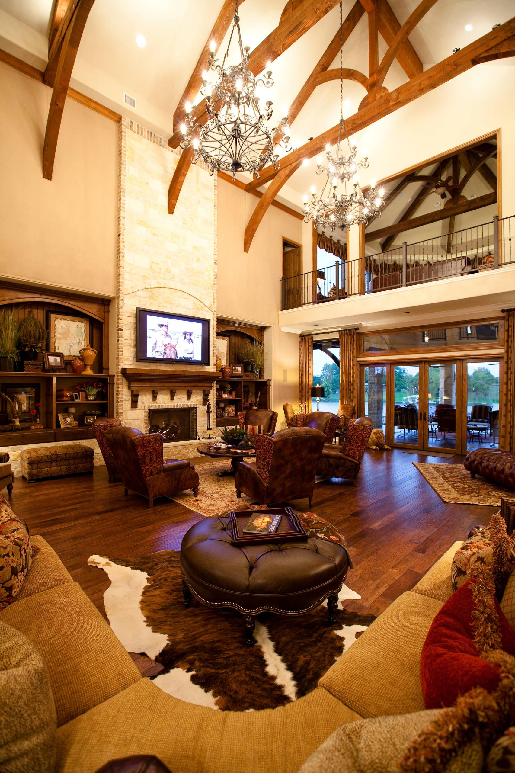 Western Living Room Houzz, Western Living Room Design Ideas