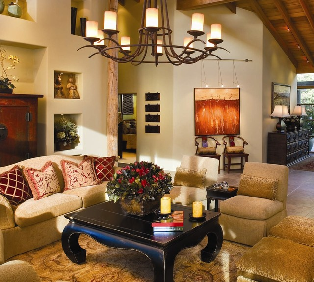 Debra Campbell Design Rustic Living Room Other Metro