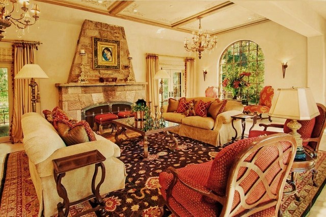 Debra Campbell Design mediterranean living room