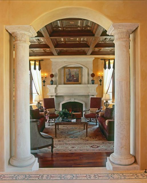 Debra Kay George Interiors mediterranean-living-room