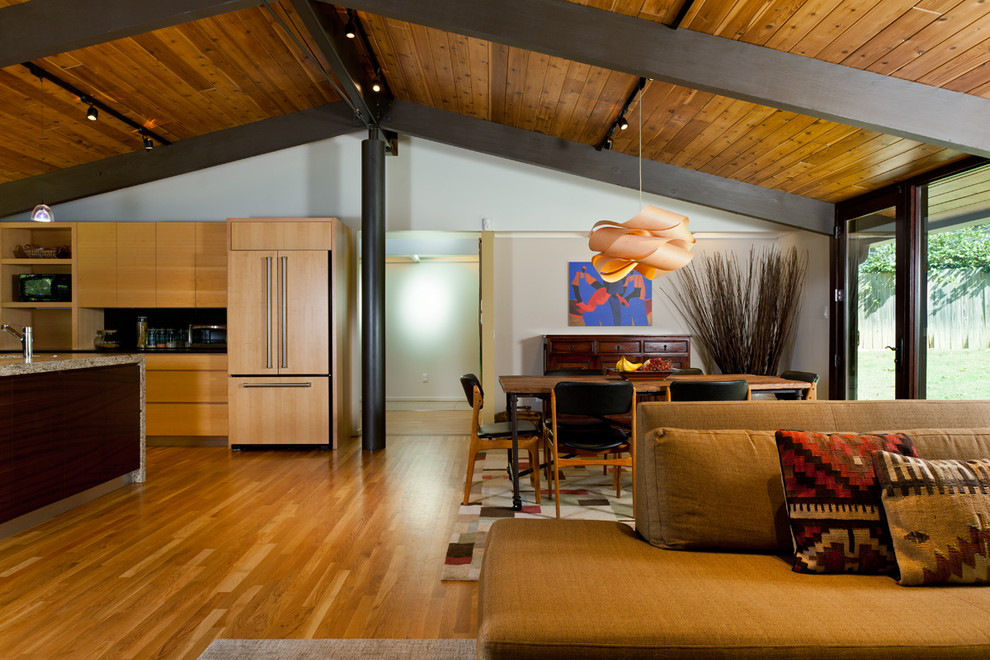 Deck House Remodel - Modern - Living Room - Raleigh - by ... on Living Room Deck id=25548