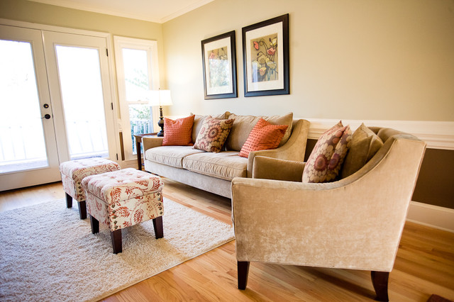 Decorating with Orange traditional-living-room