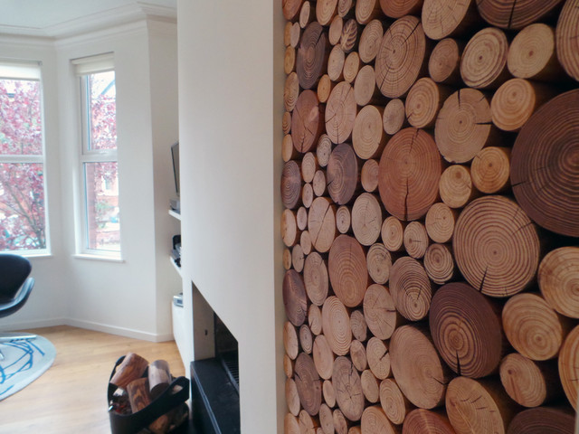 Decorative Logs Display In Residential House (Manchester UK)  Contemporary Living Room