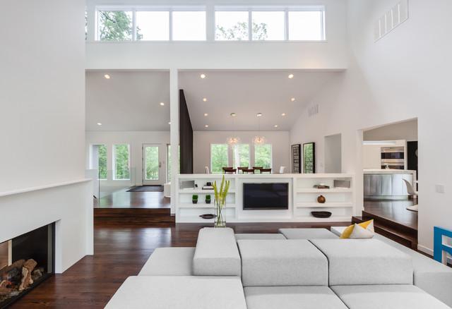 living room tv divider. Deephaven Residence modern living room  Modern Living Room Minneapolis by ALTUS