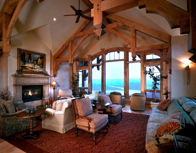 Deer Valley Mountian Home traditional-living-room