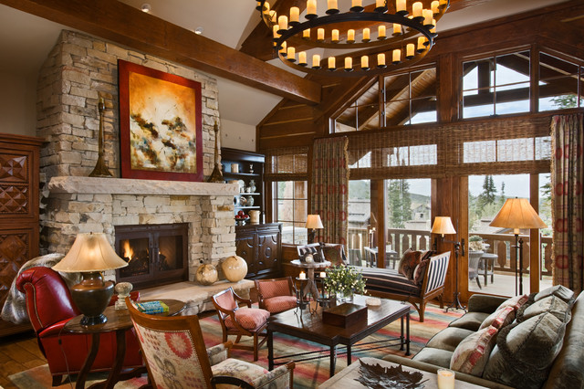 Deer Valley Retreat Traditional Living Room Salt