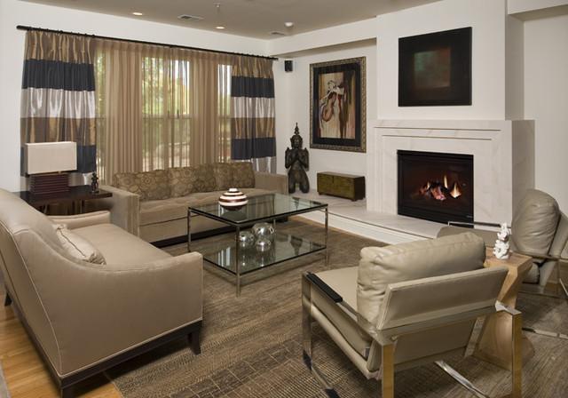 Defined by Art modern-living-room