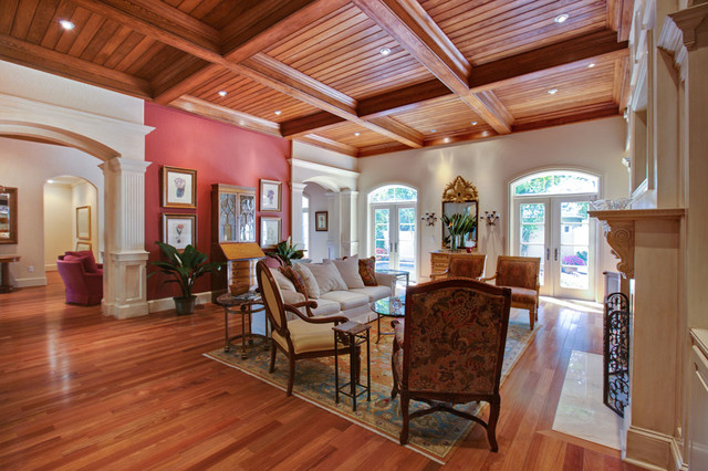 Defining Italian Meditteranean Influence in a Formerly Non Specific Florida Home mediterranean-living-room