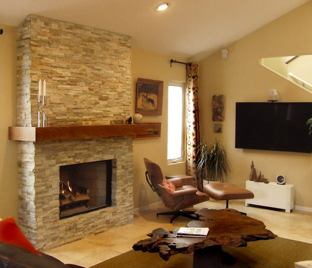 Fireplace Remodel Contemporary Living Room San Diego By Fireside Design Center