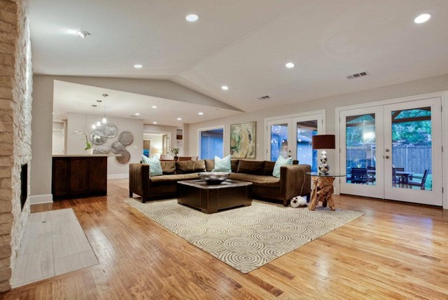 Del roy project nortex custom hardwood floors modern Carpet or wooden floor in living room