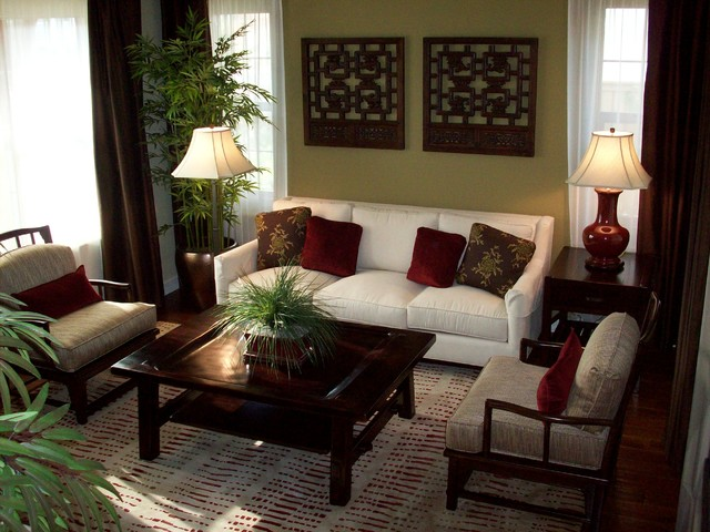 Del sur residence Asian decor living room
