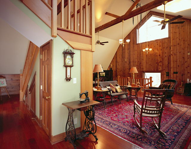 Delavan Lake Barn Renovation traditional living room