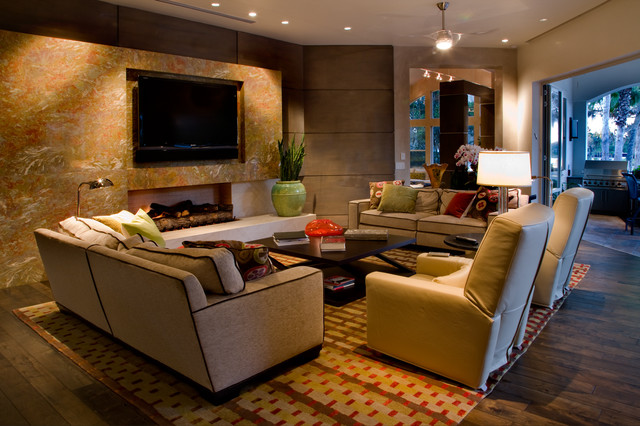 Dell - Private Residence in Winter Park, FL contemporary-living-room