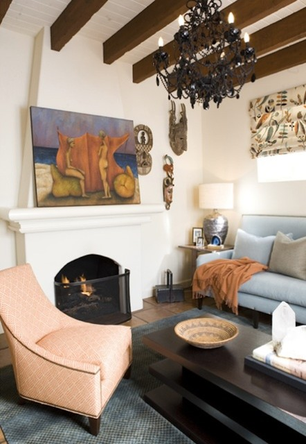 Den eclectic-living-room