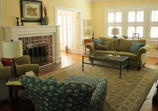 Denton 1930 S House Traditional Living Room Dallas